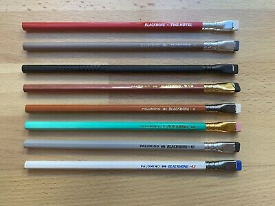 Blackwing 8 pencils: TWA and one each of Volume 1, 33 1/3, 10001, 4, 811, 10, 42