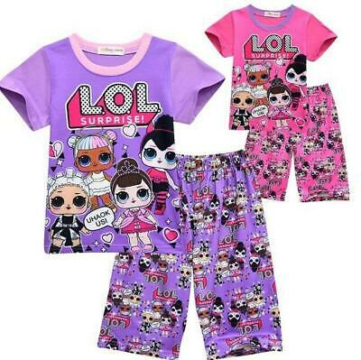 Girls Kids LOL SURPRISE 2Pcs Set DOLL Cotton Pyjamas Sleepwear Loungewear Gift
