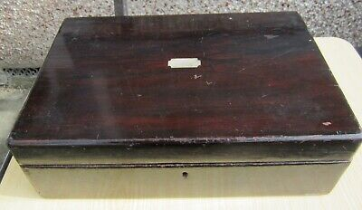 Antique Victorian rosewood veneer jewel box good condition : ideal to tidy up