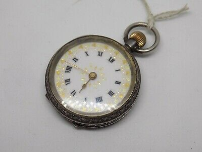 Small Antique Sterling Silver Pocket Watch. Hand Wound. London Import 1915.
