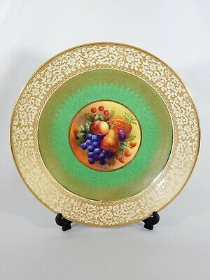 RARE Antique Bishop Stonier William Birbeck Large Fruit Bowl Wall Plate Charger