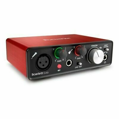 Focusrite MOSC0019 Scarlett Solo 2nd Generation USB Audio Interface - Red