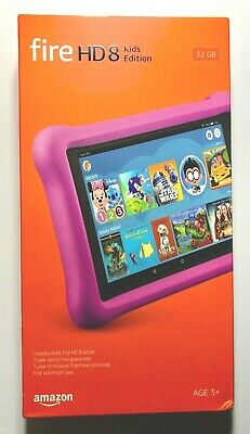 Amazon Fire HD 8 Kids Edition (8th Generation) 32 GB, Wi-Fi, 8 in - Pink - NEW