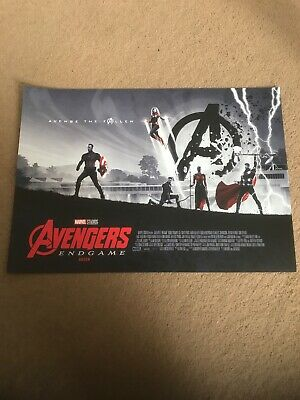 Marvel Avengers Endgame ODEON A3 Poster 1 Of 2 Piece Set