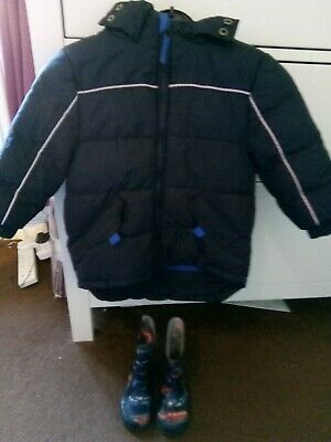 Boys Age 2 Coat and Wellies Bundle