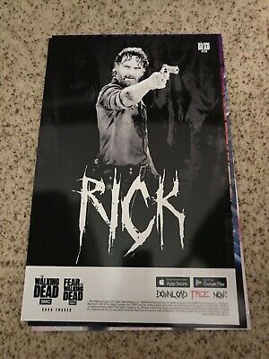 New York Comic Con 2019 - NYCC 2019 Rick - TWD Large Topps Poster Card