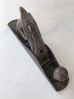 Antique Stanley Bailey No. 5 Smooth Bottom Wood Plane