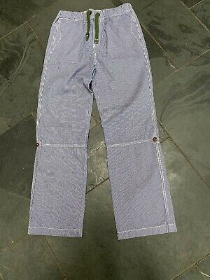 Johnnie B Boden blue girls utility Striped  trousers age 11-12 years