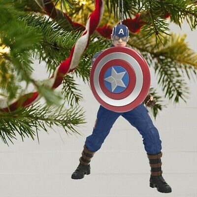 2019 Hallmark Limited Edition CAPTAIN AMERICA Ornament Avengers Endgame SOLD OUT