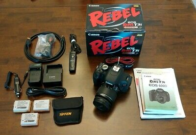 Canon EOS Rebel T3i Digital SLR Camera - with EF-S 18-55mm lens & EXTRAS