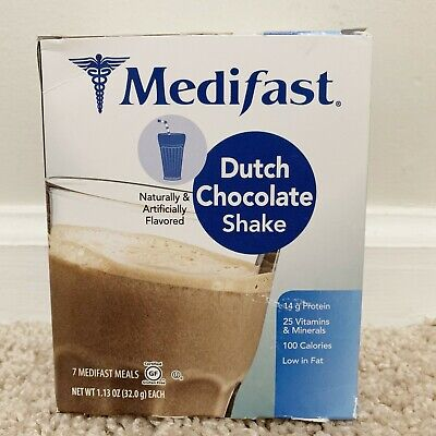 Medifast Dutch Chocolate Shake - Full Box 7 Meals - New Sealed - EXP 11/20