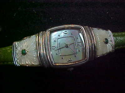 Ecclissi Sterling Silver 925 CASE Mother of Pearl Woman's Quartz Watch,