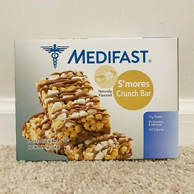 Medifast S'mores Crunch Bars 7 Meals - New Sealed - SALE PRICE - EXP 07/20