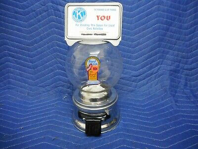 FORD Gumball Machine, 10 cent Dime w/ Glass Globe and Marquee Top Card