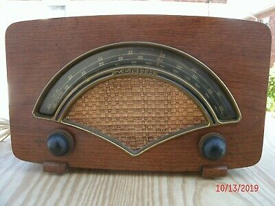 1946 Zenith Model 8H034 multi-band tube table radio working