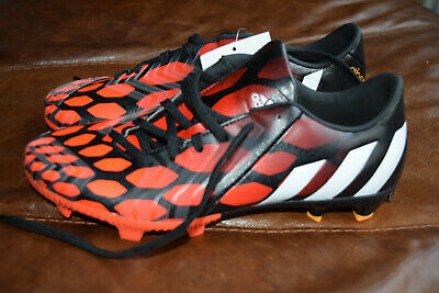Boys/Mens Adidas Predator Football Boots Size 6 Red Black White Rubber studs NEW