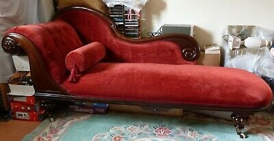 Stunning Antique Early Victorian Mahogany framed Chaise Longue