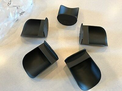 Tupperware New Round Flour Rocker Scoops Black Set Of 5