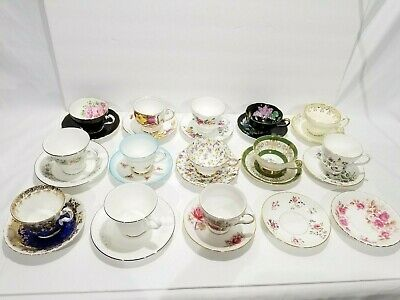 [LOT] England Bone China Cup Saucers -Royal Albert, Queen Anne, Doulton, Duchess