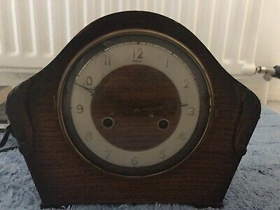 ANTIQUE ANDREW 8 DAY MANTEL CLOCK WITH KEY NOT STRIKING Vintage Art 1900 Style