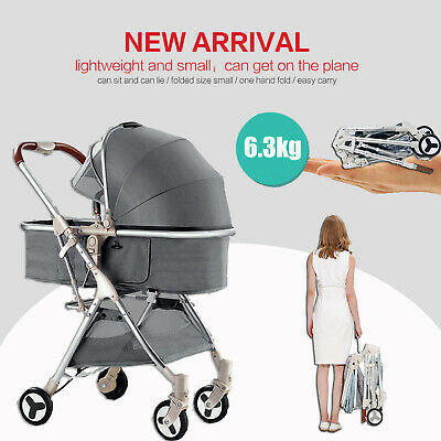 Newborn Carriage Baby Foldable Stroller Pram Pushchair Lightweight Travel System