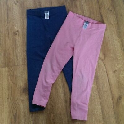 NEXT Girl Pink and Blue Leggings 2 Pairs Age 6 years