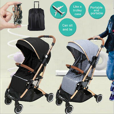 New Compact Lightweight Jogger Baby Stroller Carry-on Travel Pram Foldable Buggy