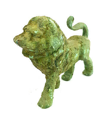 Rare Ancient Egyptian Sekhmet Statue Lion Antique Goddess Statue bronze green