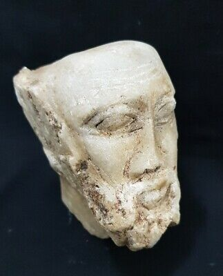 Very rare Ancient Egyptian-Helenistic Marble king Greek head bust roman Grecian