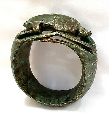 Rare Bracelet Statue Egyptian Figurine Ancient Goddess Egypt stone carved Scarab
