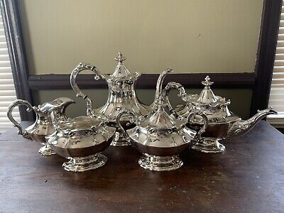 ANTIQUE Reed & Barton Victorian Silver Plate Coffee & Tea Set
