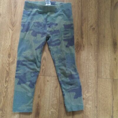 NEXT Girl Green Camouflage Leggings Age 6 years