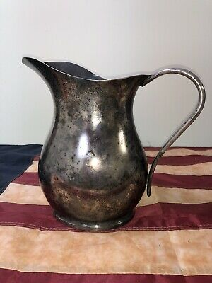 WW2 USN Silver Plate Pitcher Reed & Barton