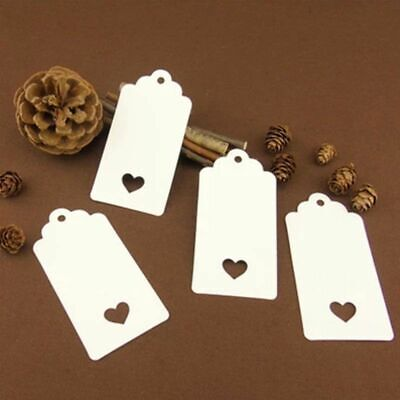 Kraft Paper Gifts Hang Tags White Brown Heart Luggage DIY Blank Labels 100Pcs
