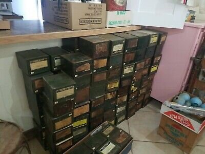 VINTAGE PHARMACY PRESCRIPTION BOXES 1950's ~ GREEN