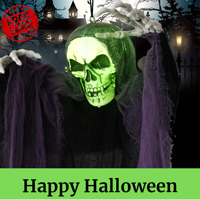 4 Ft. Hanging Grim Reaper, Hanging Ghost Halloween Prop for Haunted House Decor