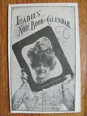 1908 Ladies' Note Book & Calendar Dr. Pierce Mother's Friend Salve Liniment Ads