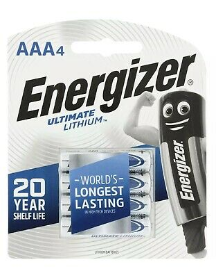 ENERGIZER AAA Ultimate Lithium Batteries 4 Pack