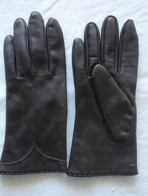 Dents Vintage Brown Ladies Leather Gloves Immaculate
