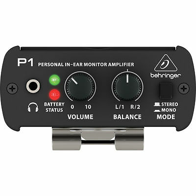 New Behringer Powerplay P1 Personal In-ear Monitor Amp Free Shipping!!