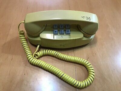Touch Button Phone Vintage Yellow  Princess 1975 Western Electric Bell System