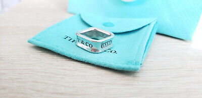 Tiffany & Co '925 T & Co 1837' Square Ring Sterling Silver  Size 5