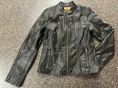 GUESS GIRLS FAUX LEATHER JACKET SIZE LARGE (14) Excellent Near NEW Condition