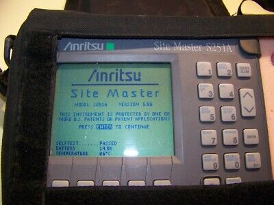 Anritsu S251A 2 port Site Master Opt 5&10, case, New Battery & Charger Full Test