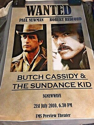 BUTCH CASSIDY & THE SUNDANCE KID Movie POSTER 1969 24x36 Paul Newman Redford