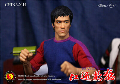In Stock CHINA.X-H 1/6 Bruce Lee Model Figure Limited Deluxe Edition Statue