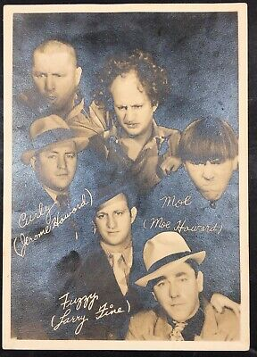"""The Three Stooges  Signature """"In And Out Of Character"""" Original Publicity Photo"""