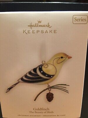 2008 Hallmark Keepsake Ornament Goldfinch The Beauty of Birds #4 NIB