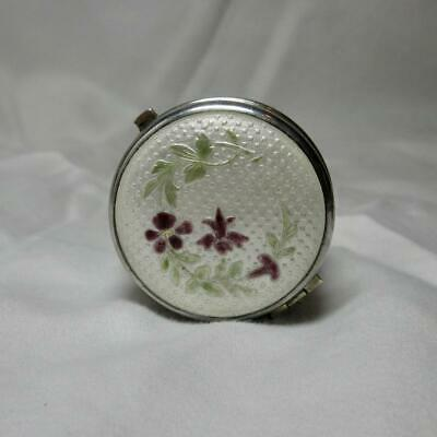 Guilloche Enamel Dresser Jewelry Patch Box Pendant Sterling Chatelaine Germany