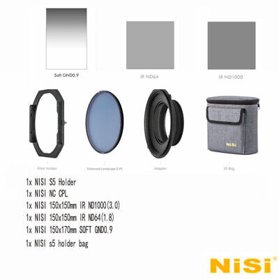 NISI S5 150mm Filter KIT Holder For NIKON 14-24mm F2.8 +Soft GND8+ND1000+ND64